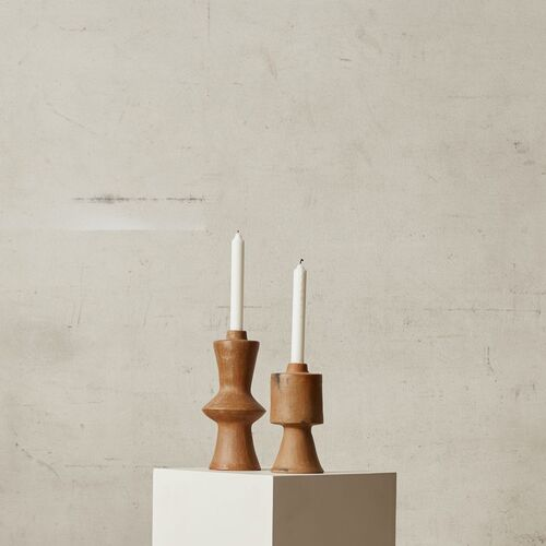 Newton Candle Holder Set | Terracotta